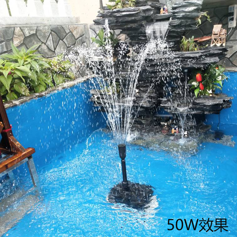 Viewing small fountain pump water pump with lamp triad porcelain jar aquarium filter pump wave pump circulation pump fish pond
