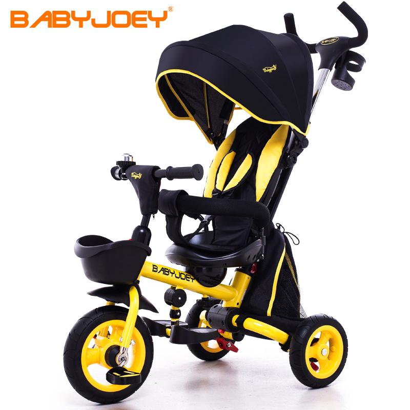 英国Babyjoey儿童三轮脚踏车宝宝1-3-5岁手推车自行童车坐躺折叠