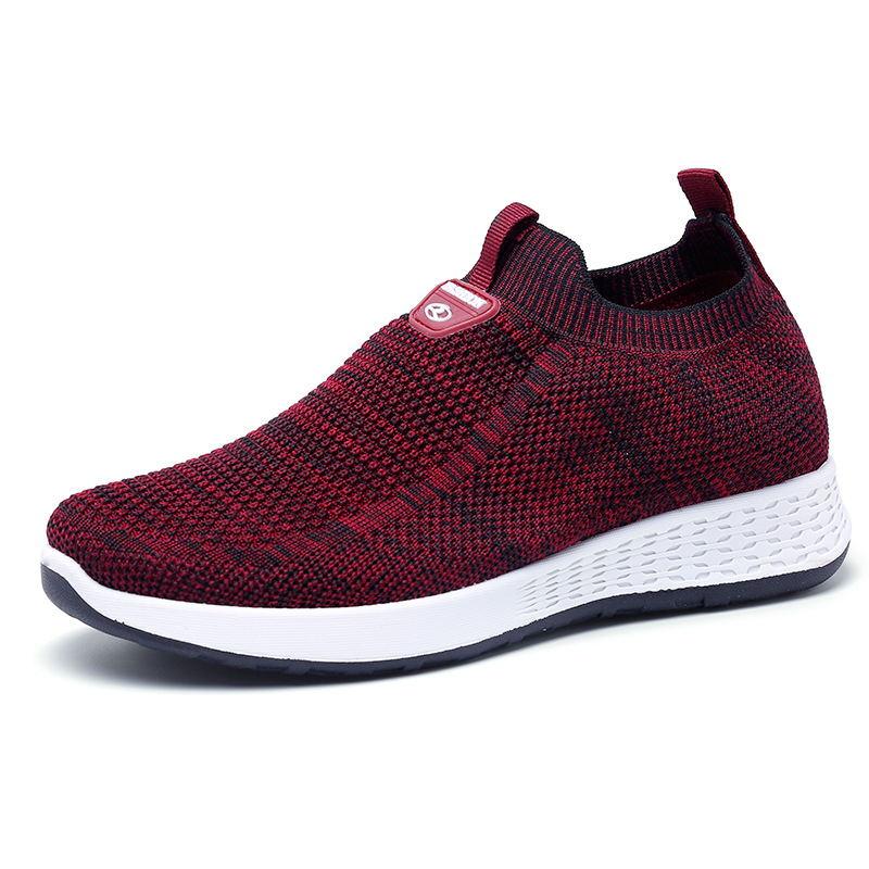 健步鞋2020春秋款女鞋飞织面透气休闲鞋软底防滑跑鞋中老年妈妈鞋