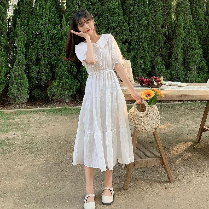 超火法式复古气质仙女小香风连衣裙