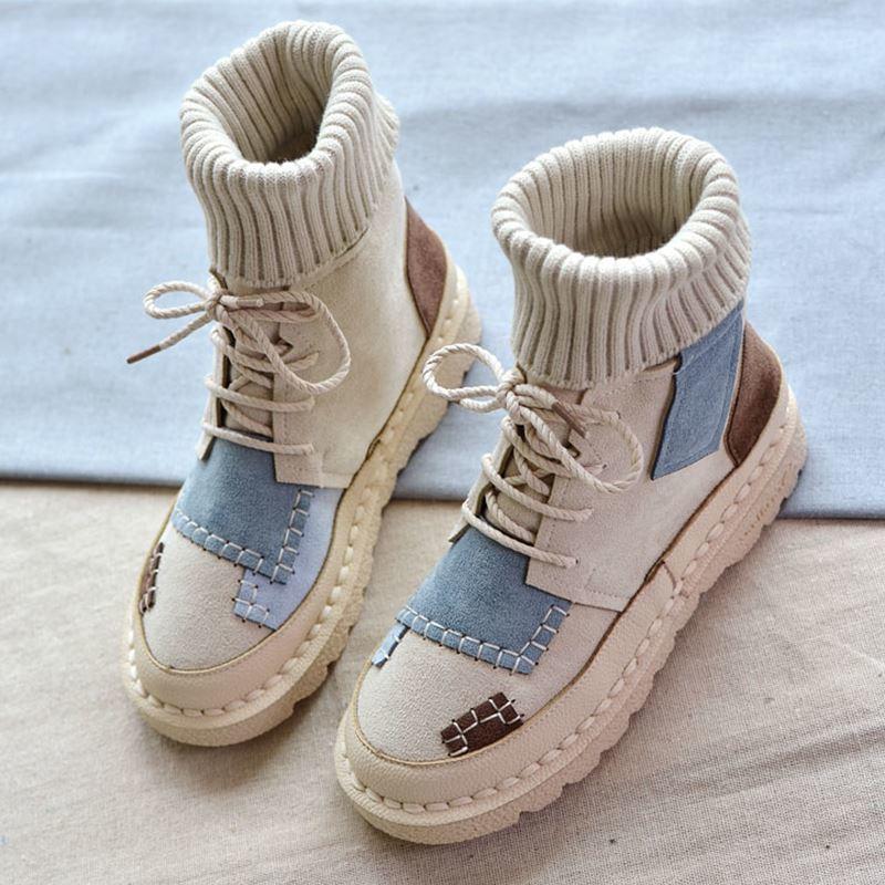 高帮马丁靴女复古短靴2020秋冬网红潮鞋百搭平底学生鞋子雪地棉靴