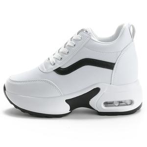 内增高小白鞋女2020秋季新款女鞋真皮加绒休闲鞋百搭厚底运动鞋女
