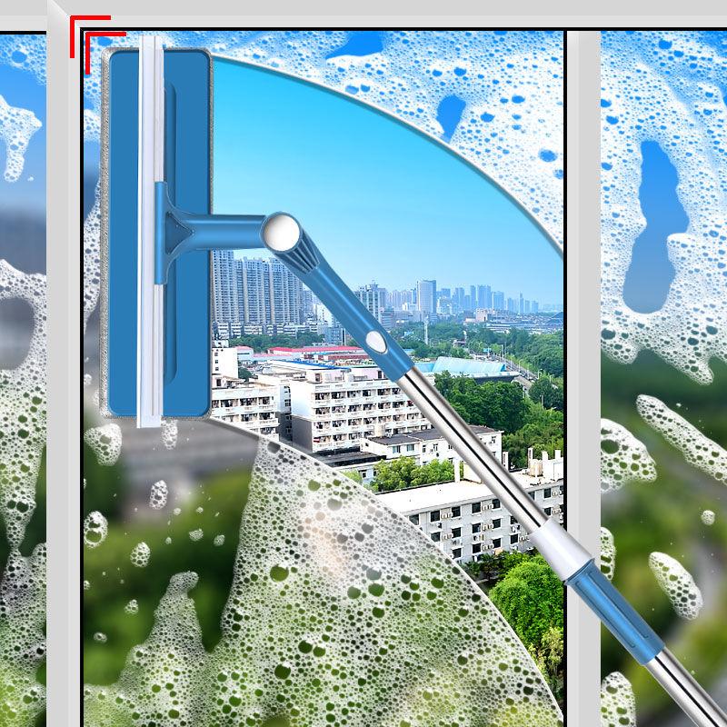 擦玻璃神器家用高层伸缩杆双面擦高楼双层洗窗户清洁清洗工具刮搽