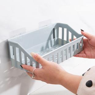 卫生间置物架免打孔厨房收纳架挂篮置物篮挖机收纳盒篮浴室收纳筐