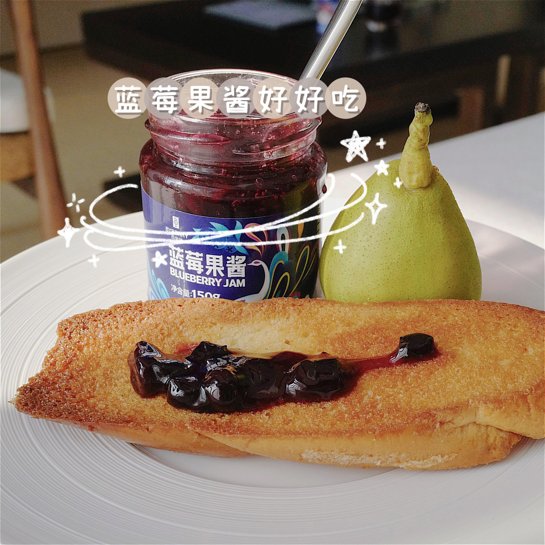 百伯利蓝莓酱草莓酱烘焙夹心吐司面包牛奶搭配即食早餐0脂肪150g