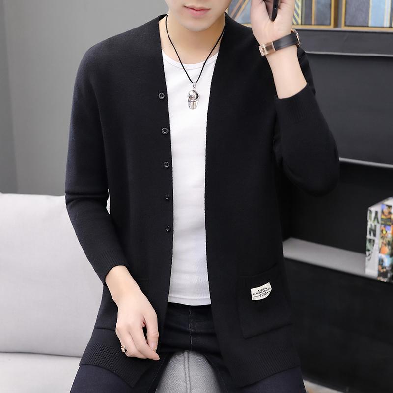 LANDCOE2021男士毛衣春秋季新款休闲韩版潮流个性帅气