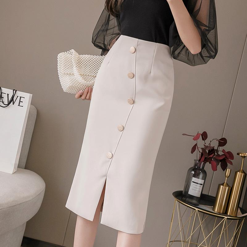 璩绒2021夏季新款ins超火修身显瘦大码高腰包臀裙中长款半身裙女