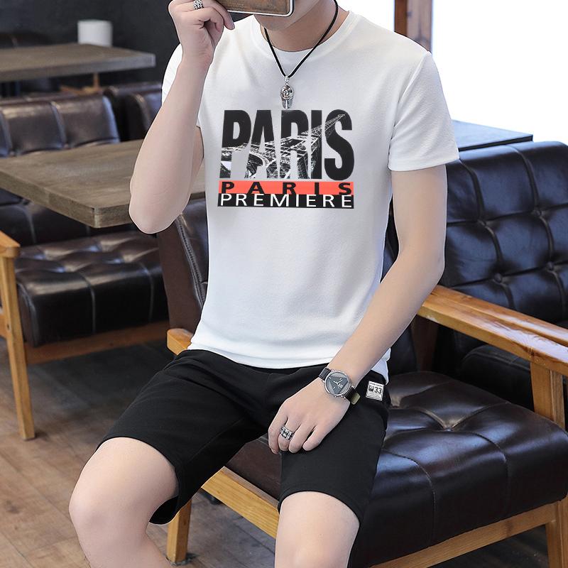 PDGL2021夏季新款运动男短袖短裤套装男运动短袖套装