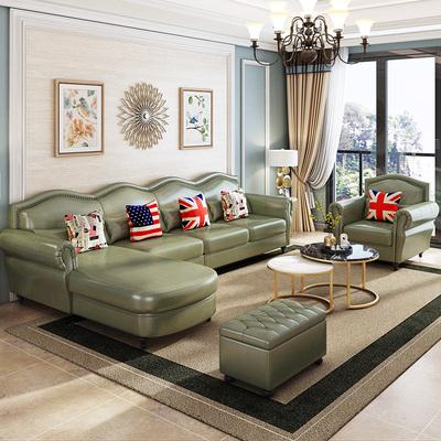 BFLS栢菲莱斯美式真皮沙发客厅整装头层牛皮沙发小户型乡村家具