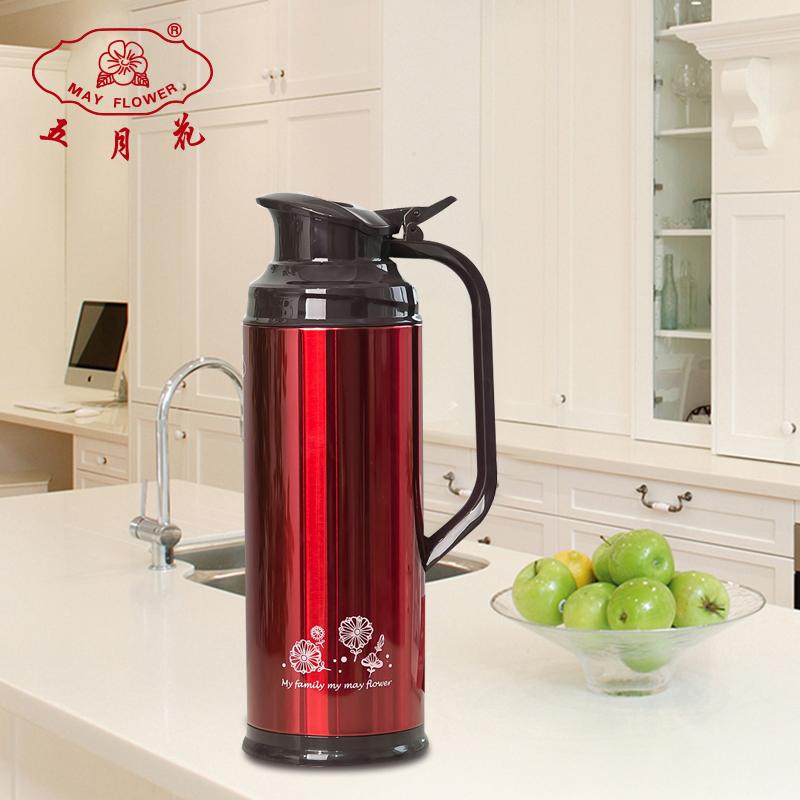 五月花大容量热水瓶保温瓶不锈钢学生用暖瓶玻璃内胆开水热壶宿舍