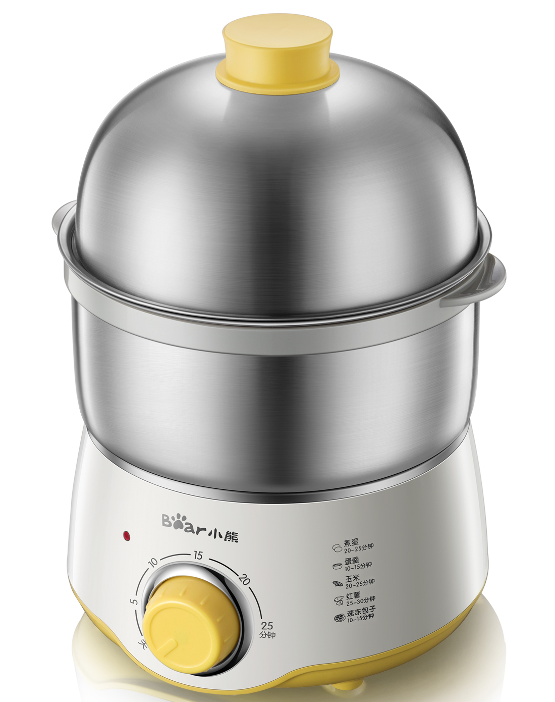 Bear-小熊 ZDQ-A07U1煮蛋器小型迷你蒸蛋器双层炖蛋器不锈钢电器