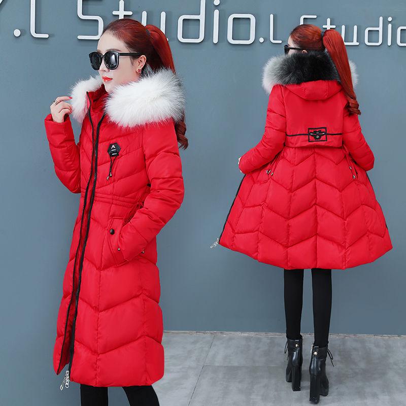 卡都狼正品冬季保暖羽绒棉服外套女士长款棉衣外套韩版休闲棉袄潮