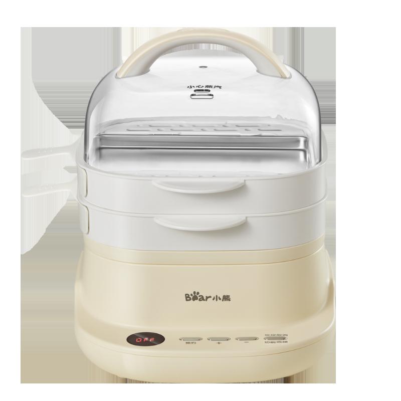 小熊肠粉机小型家用迷你广东肠粉蒸盘小电蒸锅抽屉式全自动早餐机
