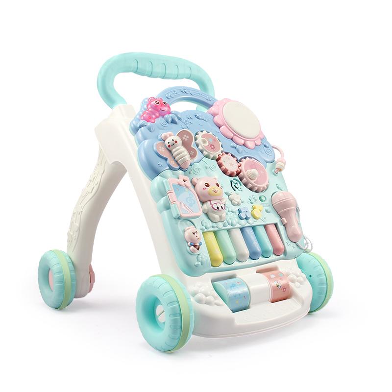 婴儿学步车手推车多功能防侧翻宝宝学走路6-7-18个月助步车1岁