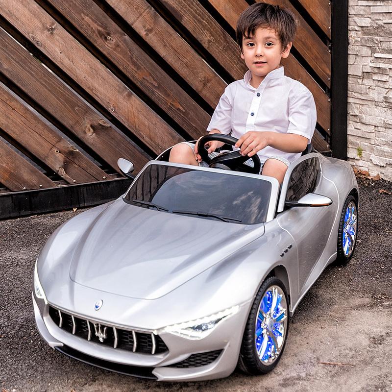 玛莎拉蒂儿童电动汽车四轮超大号宝宝充电玩具车可坐人带遥控童车