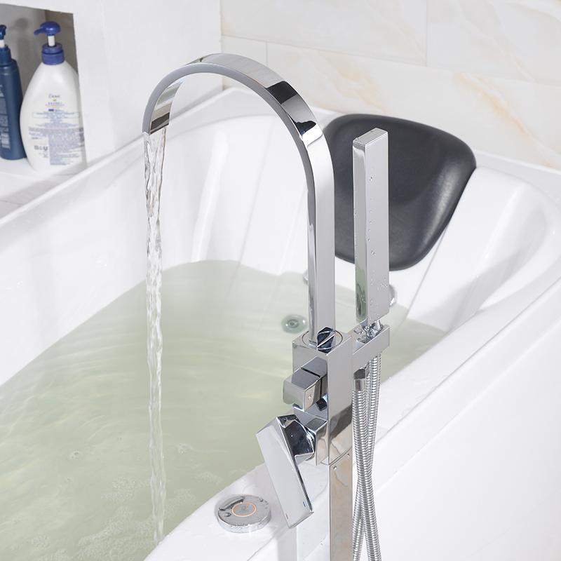 浴缸龙头落地式龙头纯铜龙头东霸浴缸水龙头