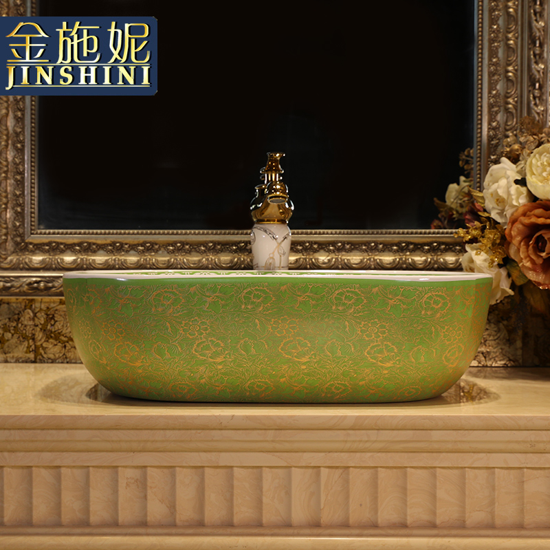 European square on the ceramic basin sink basin bathroom sinks art basin of wash one contracted household