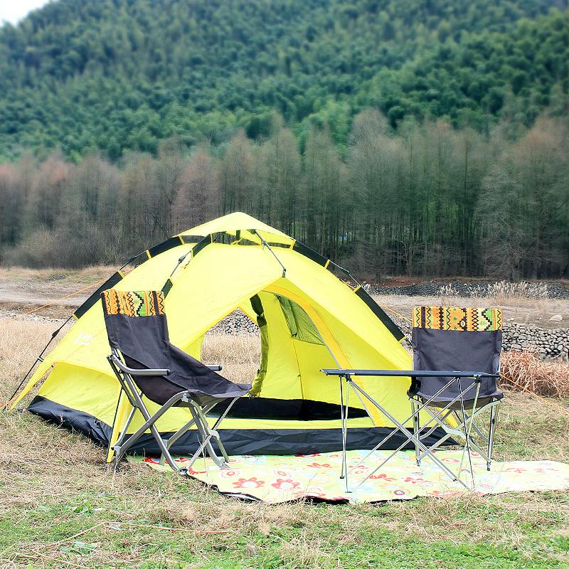山地客 帐篷 户外3-4人家庭全自动帐篷