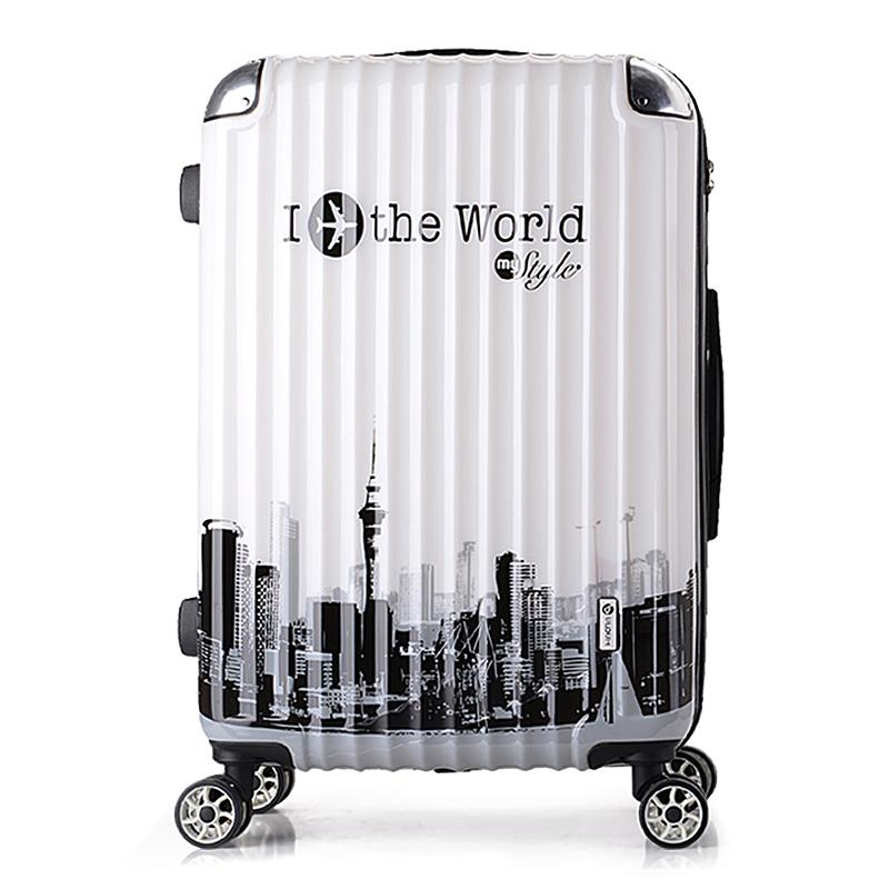 旅行箱行李箱万向轮拉杆箱女密码箱包登机箱皮箱硬箱20寸24寸皮箱