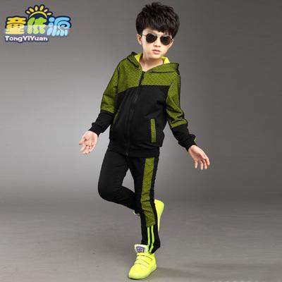 童装男童秋装套装2018新款儿童卫衣两件套韩版春秋中大童运动潮