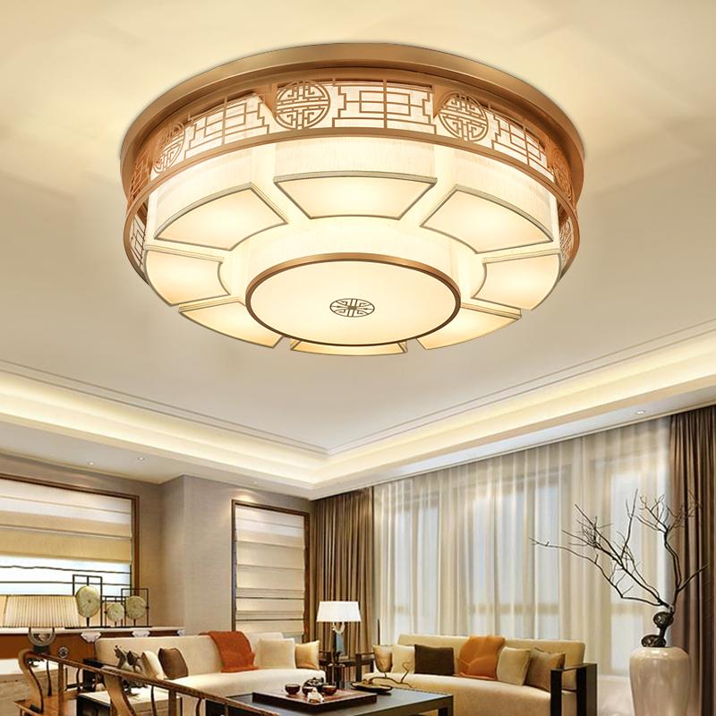 新中式吸顶灯铁艺圆形客厅灯大气古典卧室灯具现代中国风客厅灯