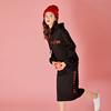 2018秋冬新款加绒加厚中长款连帽卫衣半身裙套装chic时尚两件套