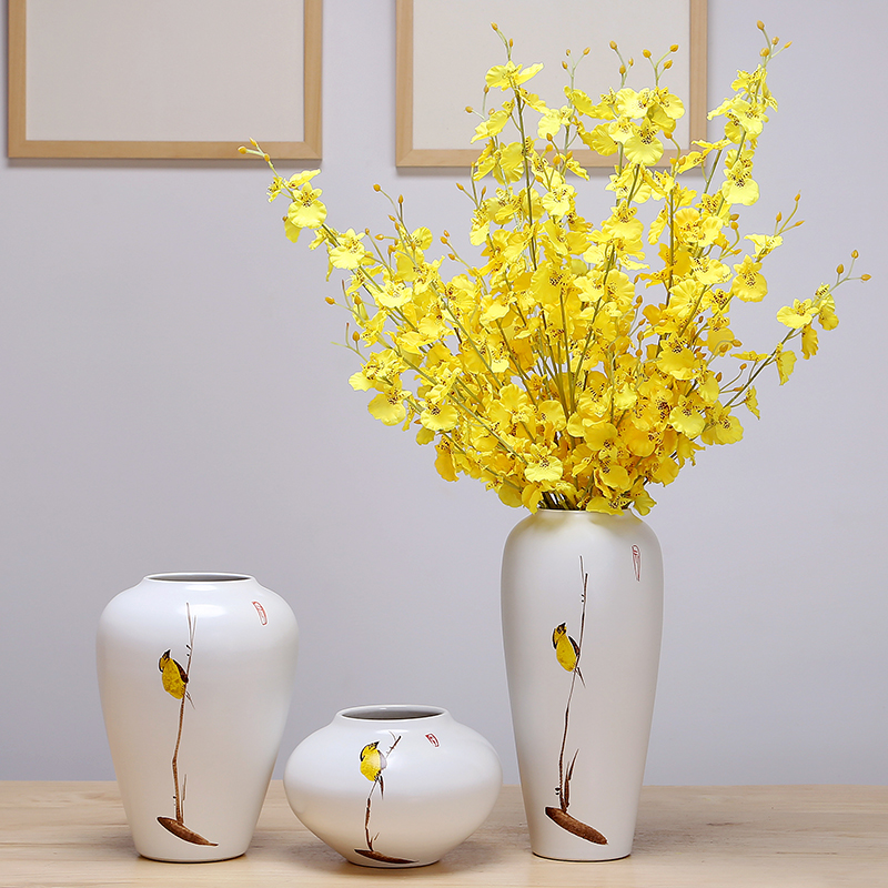 Jingdezhen ceramic vases, flower arranging dried flower simulation flowers sitting room place porch Europe type TV ark, simple decorations