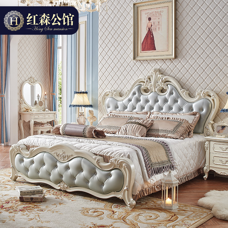 欧式床主卧床家具奢华双人床1.8米法式床实木公主床婚床豪华别墅