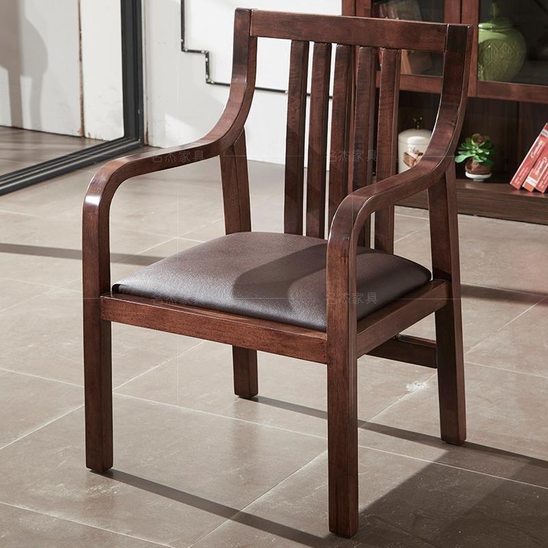 书桌椅子电脑椅办公椅休闲椅人体工学椅家用弓形实木老板椅靠背椅