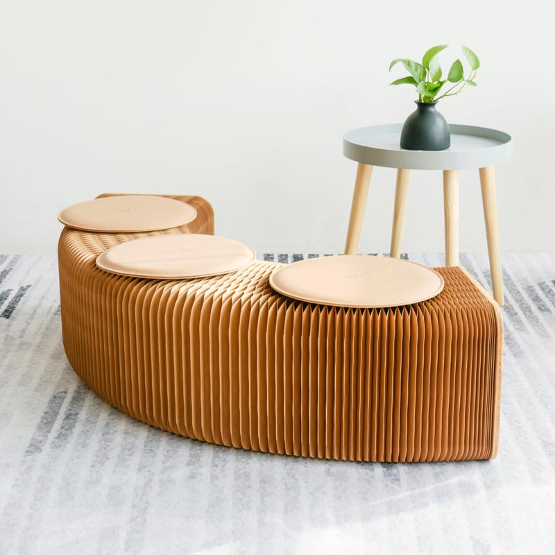 十八纸凳子伸缩沙发凳时尚家用休闲北欧小户型家具矮凳创意省空间