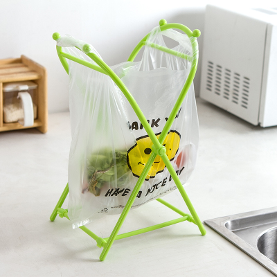 Japan garbage bag home kitchen folding hanging garbage rack bedroom creative portable garbage bag storage bracket