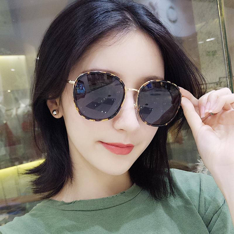 2018新款GM偏光太阳镜女潮韩版网红眼镜女大框方形开车司机墨镜女