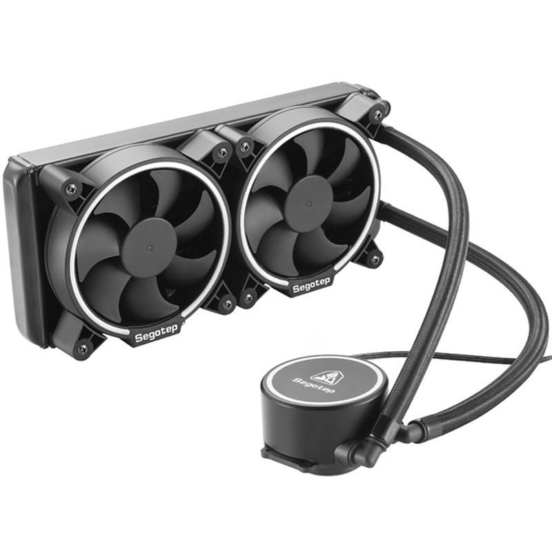 鑫谷冰酷cpu水冷散热器台式机电脑一体式240水冷套装日食静音风扇