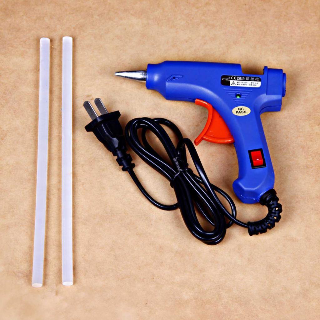 家用20w胶枪胶棒做手工的材料制作首饰工具diy饰品配件塑料热熔枪图片