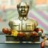 车内饰品车载毛主席汽车摆件 高档毛泽东香水座半身头像铜像
