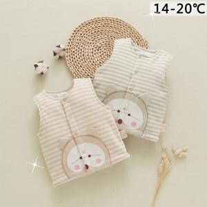 婴儿马甲纯棉夏季外出服男女童针织坎肩新生宝宝背心开衫春夏保暖