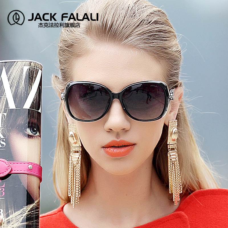 杰克法拉利2018新款太阳镜女潮圆脸大框偏光眼镜网红防紫外线墨镜