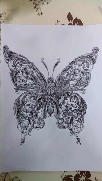 美术作业传统纹样装饰画视觉传达装饰设计