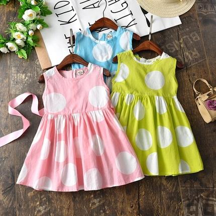 女童2018夏季女孩公主裙韩版儿童吊带裙子背心裙中小童洋气连衣裙