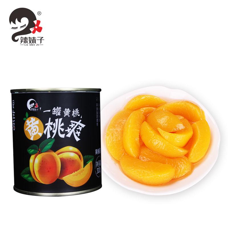 湖南品牌,辣妹子 糖水黄桃罐头300克*5罐