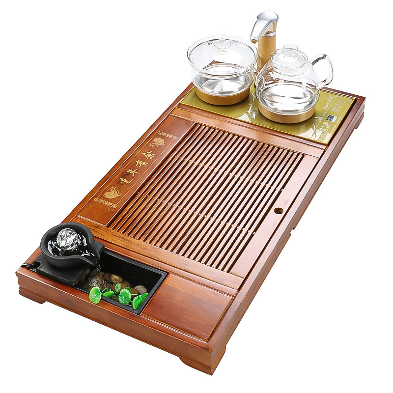 In solid wood, kung fu tea tray was suit household automatic fourth one tea tea tea sea contracted tray