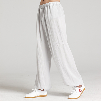 Tai Chi Pants Linen Men and women morning exercise exercise martial arts yoga pants bloomers