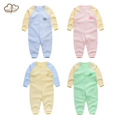 婴儿连体衣夏装春秋长袖薄款新生儿衣服夏季男女宝宝睡衣哈衣爬服