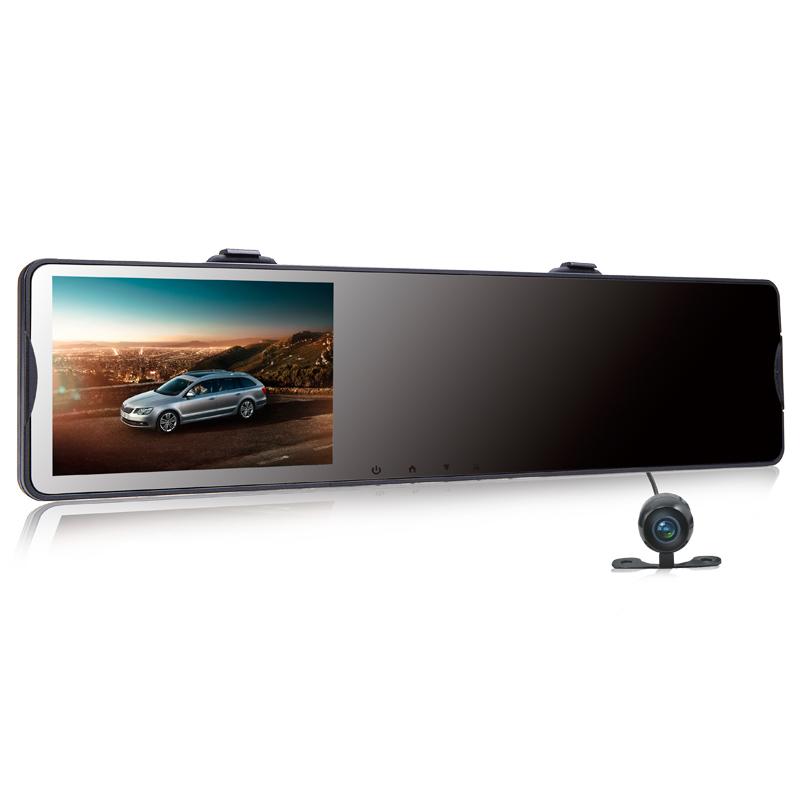 新款行车记录仪双镜头高清夜视全景倒车影像导航测速电子狗一体机