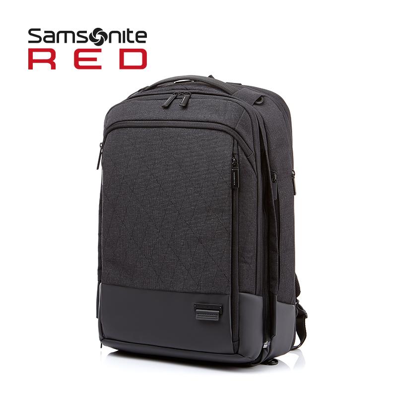 Samsonite-新秀丽双肩包背包商务休闲旅行两用背包大容量男包 DN9
