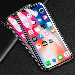 闪魔 iPhoneX钢化膜XR苹果X全屏覆盖Max蓝光iPhoneXR手机iphoneXsMax高清8x贴膜XR全包防摔9D屏保护防爆XS