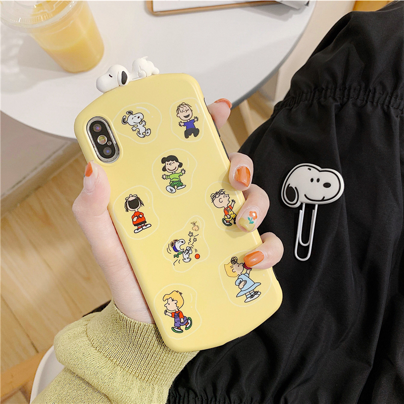 Stereoscopic cartoon dog 8plus/7p/6 Apple x phone case XS Max/XR/iPhone X women's iPhone 6s silicone creative personality day Korea all-inclusive anti-fall protection set tide card man