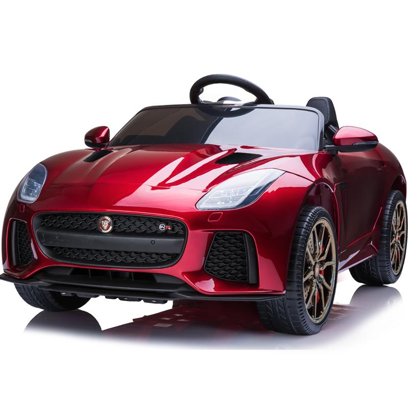 捷豹儿童电动车四轮带遥控摇摆汽车男女小孩宝宝玩具车可坐人童车