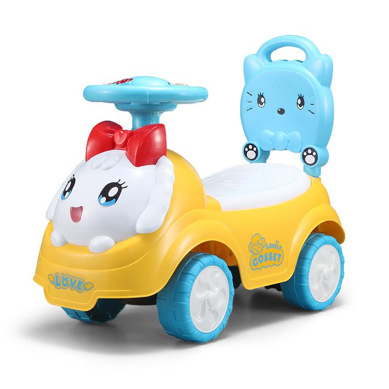 儿童玩具车可坐人 四轮滑行车学步车婴儿溜溜车宝宝扭扭车1-3岁