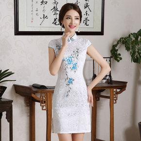 修身复古气质旗袍